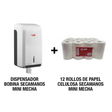 dispensador y papel